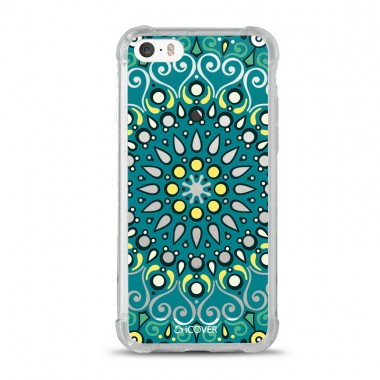 Capa Anti-Impacto para iPhone 5/5s/5se iCover Mandala Green
