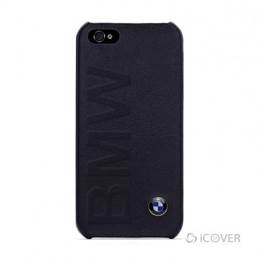 Capa Para iPhone 4 / 4S  – BMW M collection – Policarbonato e Couro Preto | BMHCP4LOB