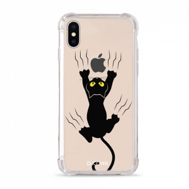 Capa Anti-Impacto para iPhone XS  iCover Black Cat Help