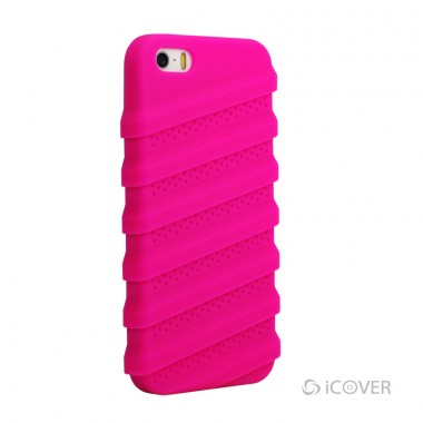 Capa Para iPhone 5/5S/SE - iCover Tractor® - Super-Silicone Pink | ICO565PK