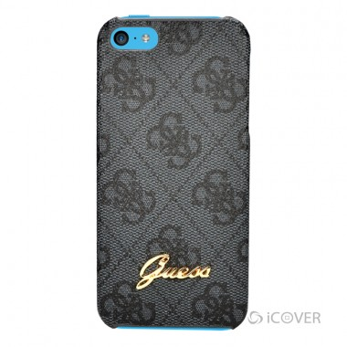 Capa Para iPhone 5C - GUESS TEXTURE BACK HARD CASE COLLECTION - PU CINZA | GUPM4GGR5C