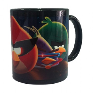 Caneca Angry Birds Space - Porcelana - Preto