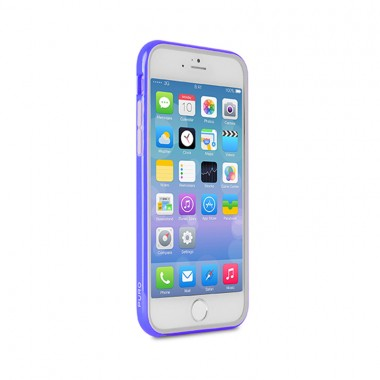 Bumper Para iPhone 6 Plus/6S Plus Azul + Película - Puro | IPC655BUMPERBLUE