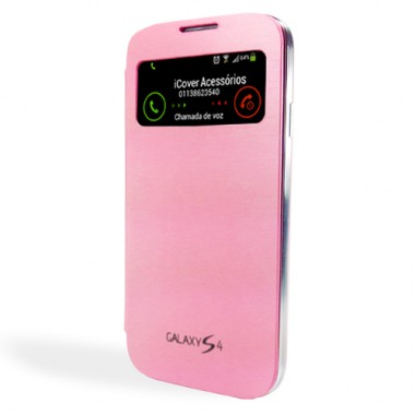 Capa S-View iCover para Galaxy S4 - Rosa - ICO670RS