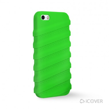 Capa Para iPhone 5/5S/SE  - iCover Tractor®  - Super-Silicone Verde | ICO565VD